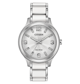 Citizen Citizen Eco Drive Ladies White Silicone Watch