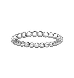 White Gold Stackable Bubble Band
