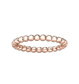 10K Rose Gold Stackable Bubble Ladies Ring