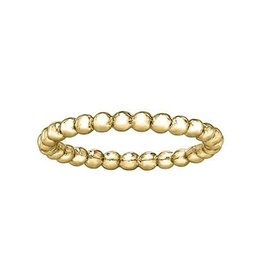 Yellow Gold Stackable Bubble Band