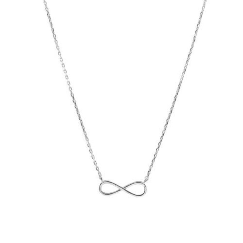 Sideway Infinity Necklace Sterling Silver