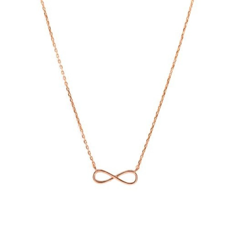 Sterling Silver Infinity Rose Gold Plated Necklace