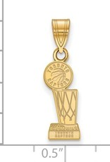 NBA Licensed 2019 NBA Championship Toronto Raptors Gold Plated Sterling Silver Pendant