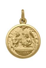 Yellow Gold Baptism Pendant Large (10K - 18K)