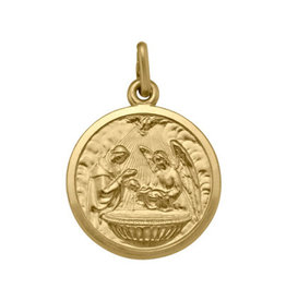(10K, 14K, 18K) Yellow Gold (Large) Baptism Pendant