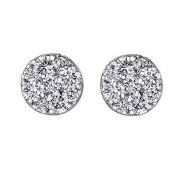 Estoria White Gold (0.33ct) Cluster Diamond Stud Earrings