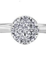 Estoria 14K White Gold Diamond Cluster Ring (0.66ct)