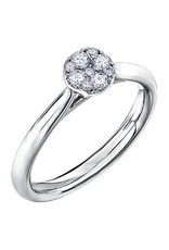 Estoria 14K White Gold Diamond Cluster Ring (0.25ct)