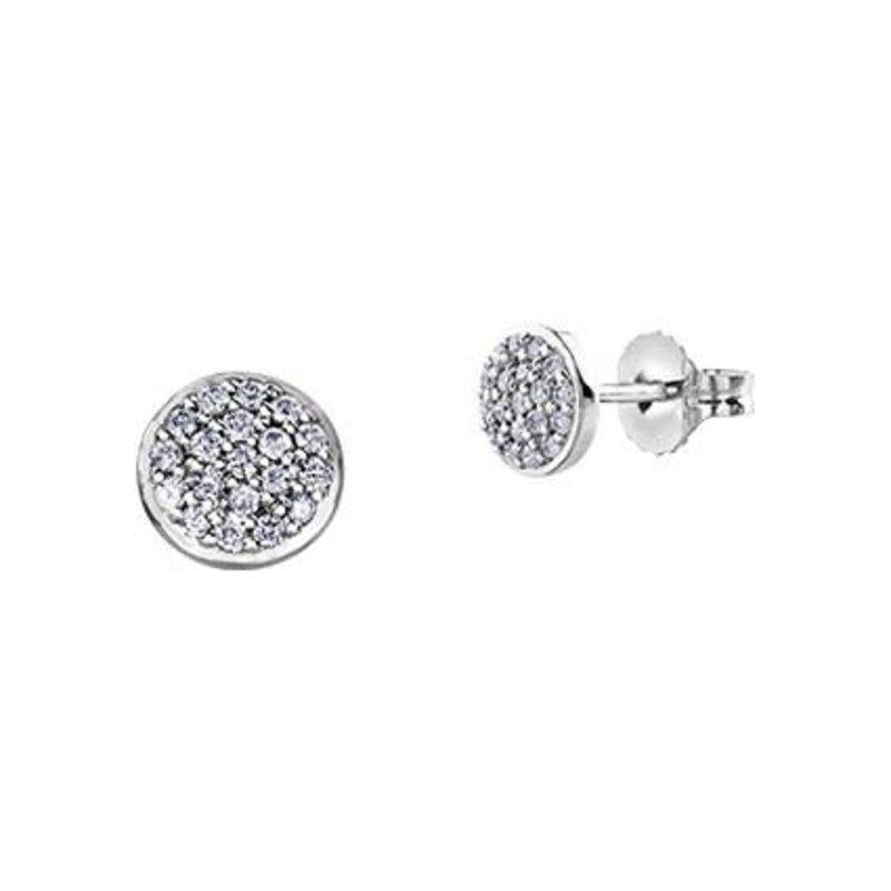 White Gold Diamond Cluster Earrings (0.16ct)