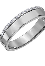 Crown Ring White Gold Ladies Diamond Band (10K, 14K, 18K)