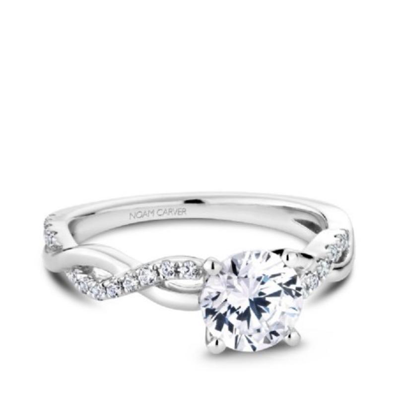 Crown Ring Noam Carver White Gold Diamond Mount (14K, 18K, Platinum)