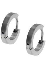 Inox Stainless Steel Mens Huggie Hoop Earrings