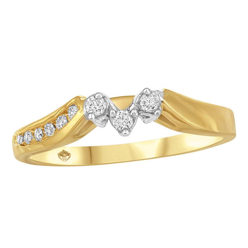 Yellow Gold Diamond Matching Band (0.12ct)