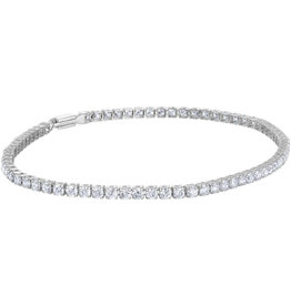 10K White Gold Diamond Bracelet (1.85ct)