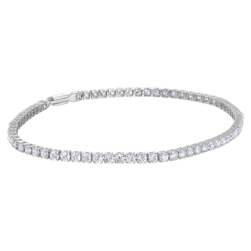 10K White Gold Diamond Bracelet (1.85ct)