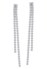 14K White Gold 1.25ct Diamond Feather Bright Earrings