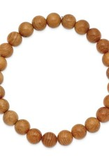 Taxus Chinesis Wood Bead Stretch Bracelet