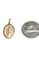 Yellow Gold Miraculous Medallion Oval (10K , 14K, 18K) Small