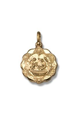 Yellow Gold Baptism Pendant (10K ,14K, 18K) Small