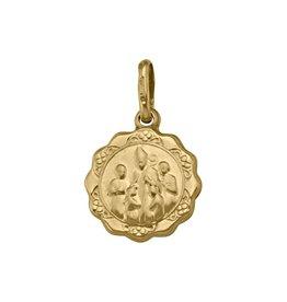 Gold Confirmation Medal Pendant (10K ,14K, 18K) Small