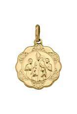 Gold Confirmation Medal Pendant (10K ,14K, 18K) Large