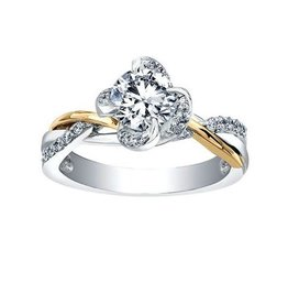 Maple Leaf Diamonds Winds Embrace (0.55ct) Canadian Diamond Two Tone Ring