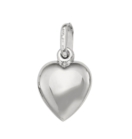 White Gold Medium Puffed Heart (10K, 14K, 18K) Pendant