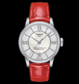 Tissot Tissot Chemin Des Tourelles Powermatic 80 Red Strap Ladies Watch