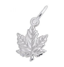 Nuco Sterling Silver Maple Leaf Charm Pendant
