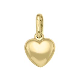 Yellow Gold Small Puffed Heart (10K, 14K, 18K) Pendant