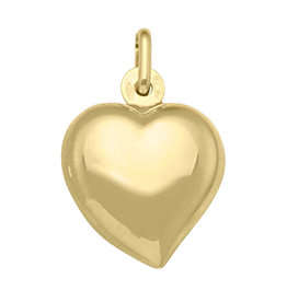 Yellow Gold Large Puffed Heart (10K, 14K, 18K) Pendant