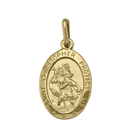 Yellow Gold Medium St. Christopher (10K ,14K, 18K) Pendant