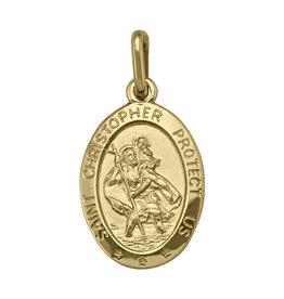 Yellow Gold Large St. Christopher (10K ,14K, 18K) Pendant