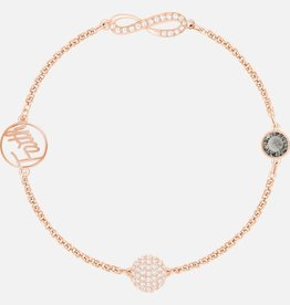 Swarovski Swarovski Remix Collection Infinity Strand,Black, Rose Gold Tone Plated Bracelet