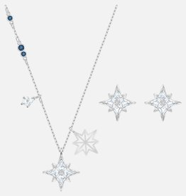 Swarovski Swarovski Palace Earring and Necklace Set, Blue Rhodium Plated
