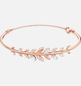 Swarovski Swarovski Mayfly Bangle, White, Rose Gold Tone