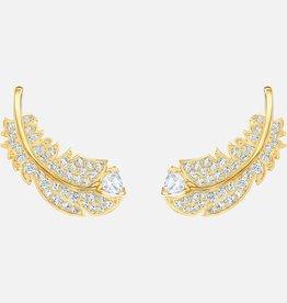 Swarovski Swarovski Nice Stud Earrings, White, Gold Tone Plated