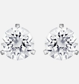 Swarovski Swarovski Solitaire Stud Earrings, White, Rhodium Plated