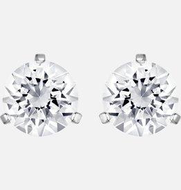 Swarovski Swarovski Stud Earrings, White Rhodium Plated