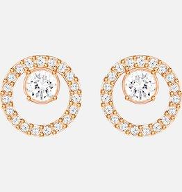 Swarovski Swarovski Creativity Circle Earrings, White, Rose Gold Tone