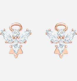 Swarovski Swarovski Magic Angel Stud Earrings, White, Rose Gold Tone Plated