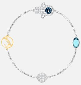 Swarovski Swarovski Remix Collection Hamsa Hand Strand Bracelet, Blue, Mixed Metal Finish