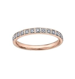 Diamond Stackable Band (0.14ct) Rose, White, Yellow Gold