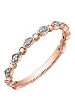 10K Rose Gold (0.06ct) Diamond Stackable Wedding Band