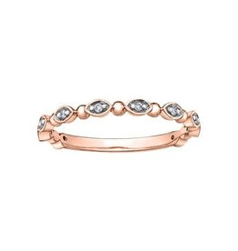 10K Rose Gold Diamond Stackable Ring (0.06ct)