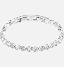 Swarovski Swarovski Tennis Bracelet, White, Rhodium Plated
