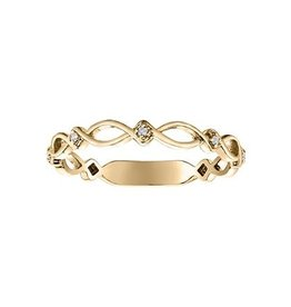 Diamond Stackable Band (0.06ct) Rose, White, Yellow Gold