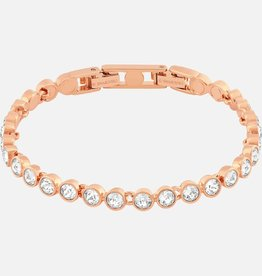 Swarovski Swarovski Tennis Bracelet, White, Rose Gold Plated