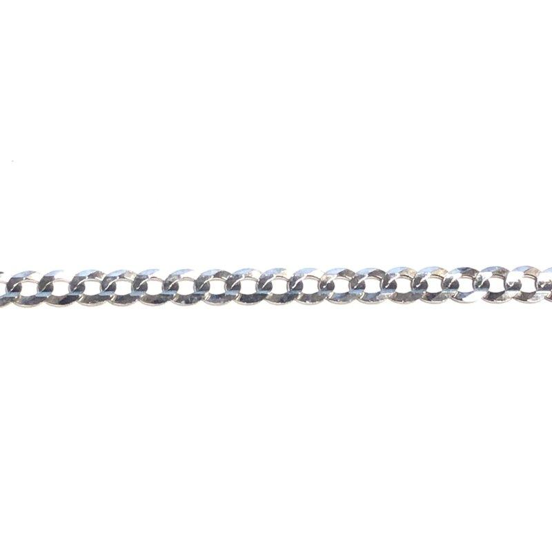 """10K White Gold (3.6mm) Curb Chain (20"""" - 24"""")"""