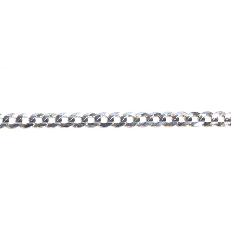 White Gold (20 - 24in) Curb Chains 3.6mm